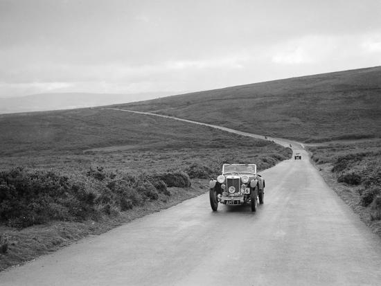 EH Goodenoughs MG PB competing at the MCC Torquay Rally, July 1937-Bill Brunell-Photographic Print