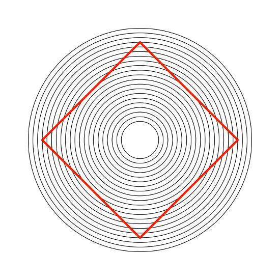 Ehrenstein Illusion, Square In Circles-Science Photo Library-Photographic Print