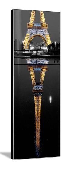 Eiffel At Night-AJ Messier-Stretched Canvas Print