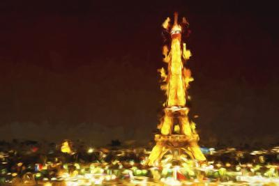 Eiffel Inspiration II - In the Style of Oil Painting-Philippe Hugonnard-Giclee Print
