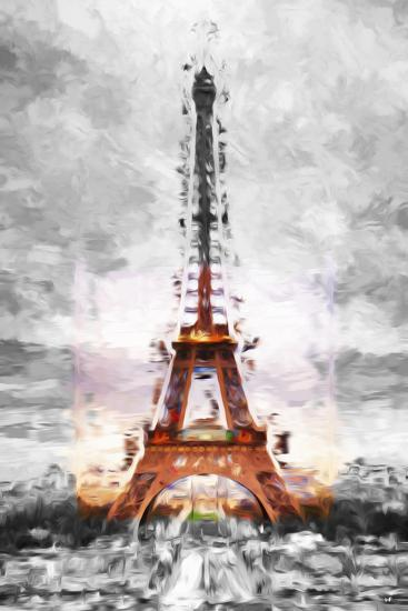 Eiffel Je t'aime II - In the Style of Oil Painting-Philippe Hugonnard-Giclee Print
