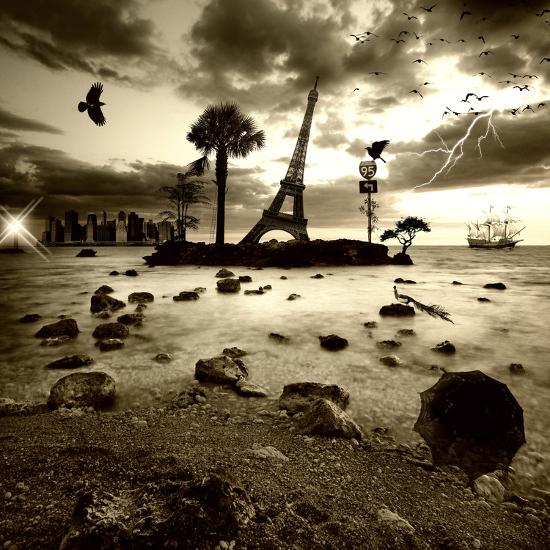 Eiffel Nightmare-Philippe Sainte-Laudy-Photographic Print