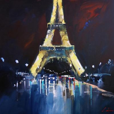 Eiffel Rain-Craig Trewin Penny-Art Print