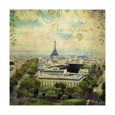 Eiffel Romance V-Sandy Lloyd-Art Print
