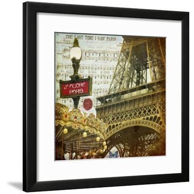 Eiffel Romance VI-Sandy Lloyd-Framed Art Print