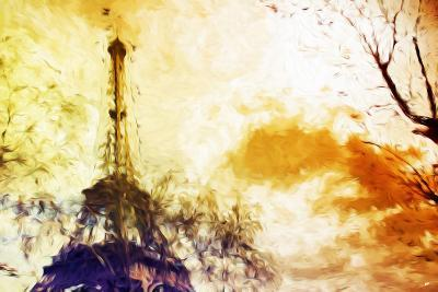 Eiffel Sunset - In the Style of Oil Painting-Philippe Hugonnard-Giclee Print
