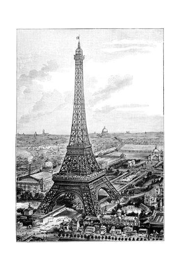 Eiffel Tower, 1889 Universal Exposition-Science Photo Library-Giclee Print
