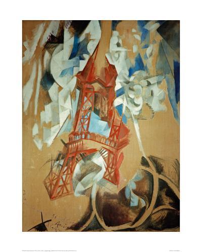 Eiffel Tower, 1910/11-Robert Delaunay-Giclee Print
