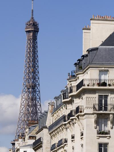 Eiffel Tower and Apartment Building-Will Salter-Photographic Print