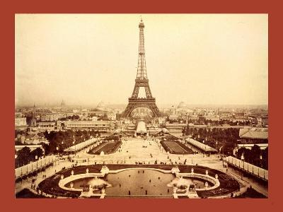 Eiffel Tower and Champ De Mars Seen from Trocadéro Palace, Paris Exposition, 1889--Giclee Print