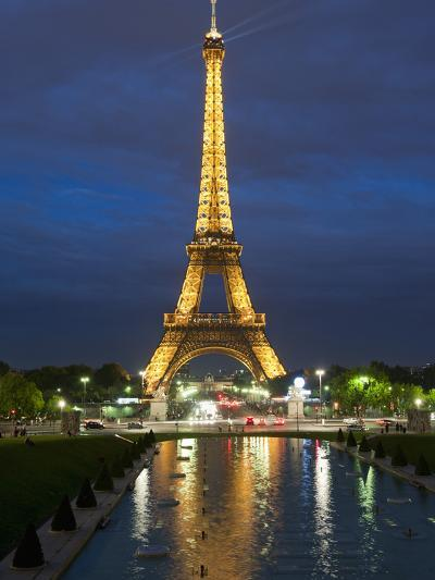 Eiffel Tower and Reflection at Twilight, Paris, France, Europe-Richard Nebesky-Photographic Print