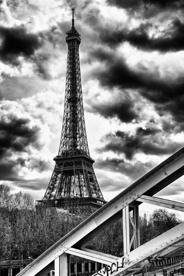 Eiffel Tower and Rouelle Bridge - Paris - France-Philippe Hugonnard-Photographic Print