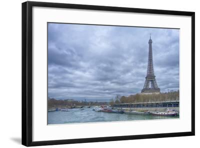 Eiffel Tower and Seine in Paris-Cora Niele-Framed Photographic Print