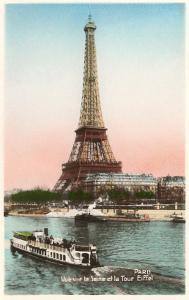 Eiffel Tower and Seine, Paris