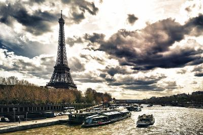 Eiffel Tower and the Seine River - Paris - France-Philippe Hugonnard-Photographic Print