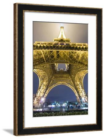 Eiffel Tower at Night,Low Angle View, Paris,France-Design Pics Inc-Framed Photographic Print