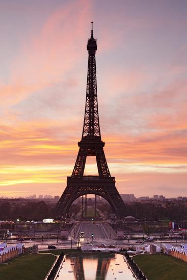 Eiffel Tower at Sunrise, Paris, Ile De France, France, Europe-Markus Lange-Photographic Print