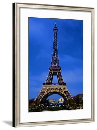 Eiffel Tower Blue Hour-Cora Niele-Framed Photographic Print