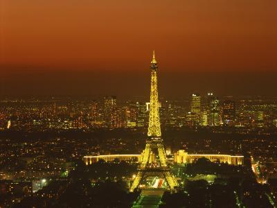 Eiffel Tower by Night, Paris, France, Europe--Photographic Print