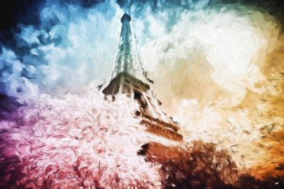 Eiffel Tower Colros - In the Style of Oil Painting-Philippe Hugonnard-Giclee Print