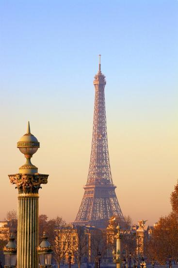 Eiffel Tower from Place De La Concorde, Paris, France, Europe-Neil-Photographic Print