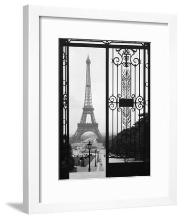 Eiffel Tower from the Trocadero Palace, Paris--Framed Art Print
