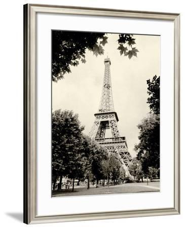 Eiffel Tower I - black and white-Amy Melious-Framed Premium Giclee Print