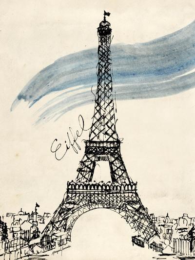 Eiffel Tower in Pen-Morgan Yamada-Art Print