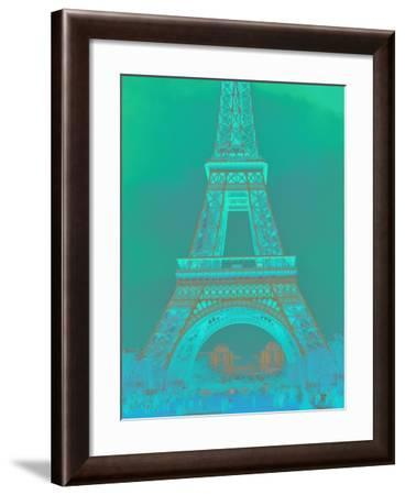 Eiffel Tower in Turquoise-Cora Niele-Framed Giclee Print