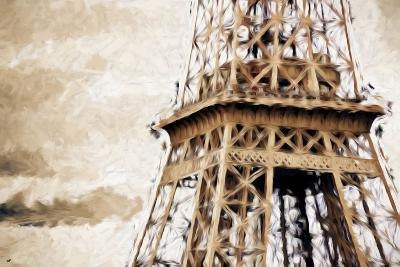 Eiffel Tower in Winter II - In the Style of Oil Painting-Philippe Hugonnard-Giclee Print