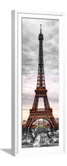 Eiffel Tower, Paris, France - Black and White and Spot Color Photography-Philippe Hugonnard-Framed Photographic Print