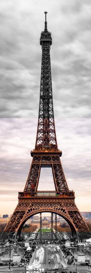Eiffel Tower, Paris, France - Black and White and Spot Color Photography-Philippe Hugonnard-Premium Photographic Print