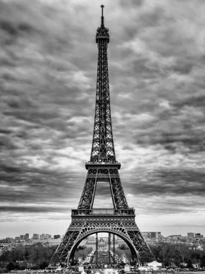 Eiffel Tower, Paris, France - Black and White Photography-Philippe Hugonnard-Photographic Print