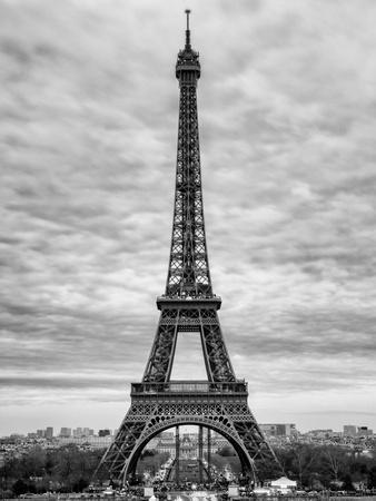 image about Printable Pictures of the Eiffel Tower called Eiffel Tower, Paris, France - Black and White Images Photographic Print through Philippe Hugonnard