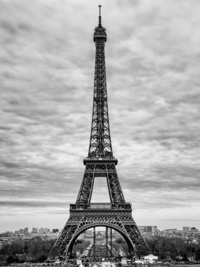 Eiffel Tower Paris France Black And White Photography Photographic Print Philippe Hugonnard Art Com