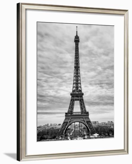 Eiffel Tower, Paris, France - Black and White Photography-Philippe Hugonnard-Framed Photographic Print