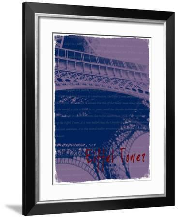 Eiffel Tower Paris in Violet-Victoria Hues-Framed Giclee Print
