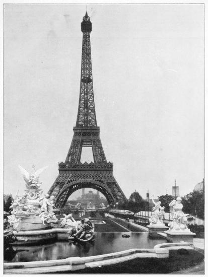 Eiffel Tower, Paris, Late 19th Century-John L Stoddard-Giclee Print