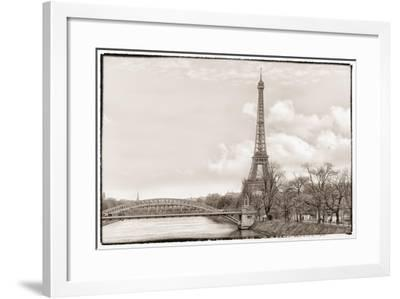 Eiffel Tower, Seine and Pont Rouelle-Cora Niele-Framed Giclee Print
