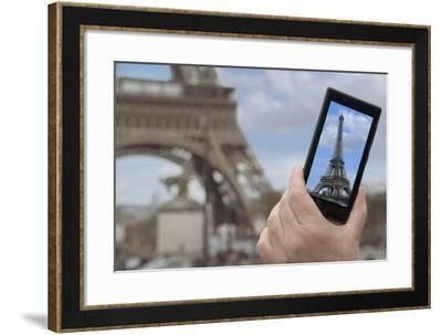 Eiffel Tower Snap Shot-Cora Niele-Framed Giclee Print
