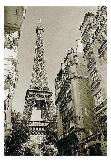 Eiffel Tower Street View, no. 1-Christian Peacock-Art Print