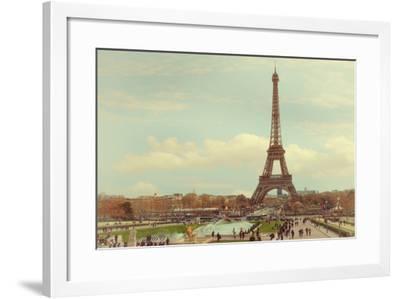 Eiffel Tower with Jardin du Trocade?ro-Cora Niele-Framed Photographic Print