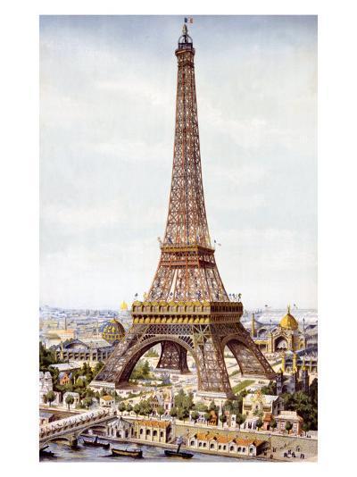 Eiffel Tower--Giclee Print