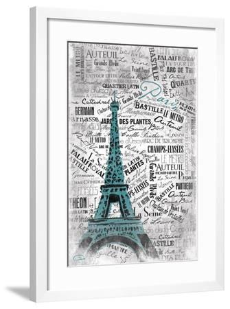 Eiffel-OnRei-Framed Art Print