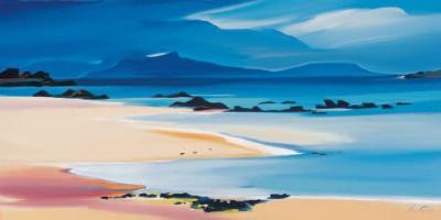 Eigg From Kilmory-Pam Carter-Collectable Print