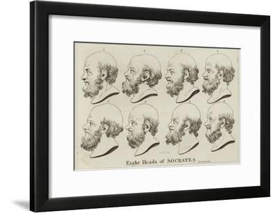 Eight Heads of Socrates--Framed Giclee Print