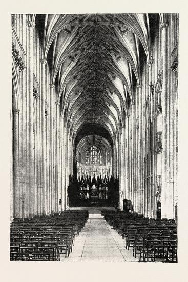 Eight Hundredth Anniversary of Winchester Cathedral: the Nave, UK, 1893--Giclee Print