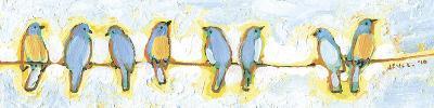 Eight Little Bluebirds-Jennifer Lommers-Art Print