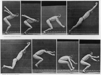 Eight Shots of a Man Jumping