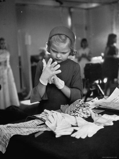Eight Year Old Girl Modeling in a Fashion Show-Nina Leen-Photographic Print
